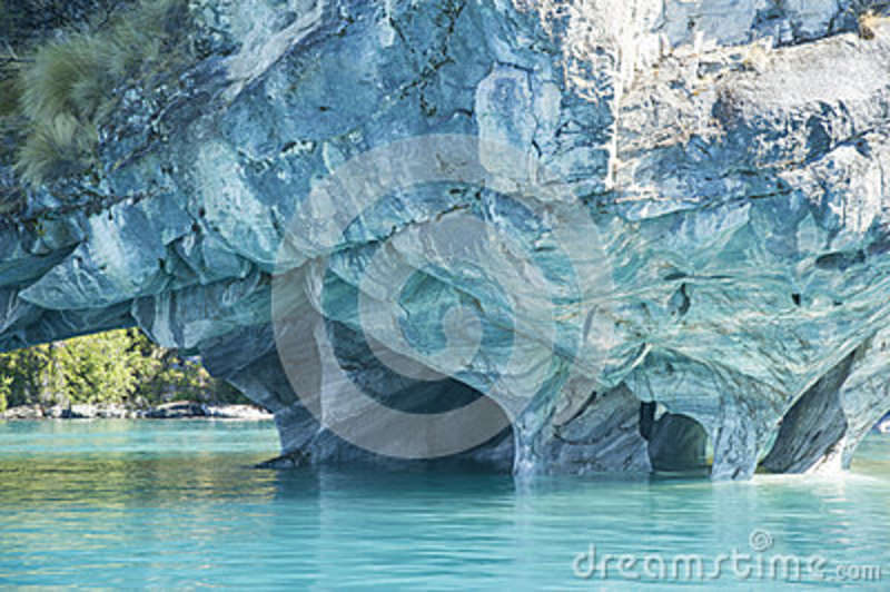 Marble Cathedral, General Carrera Lake, Chile.