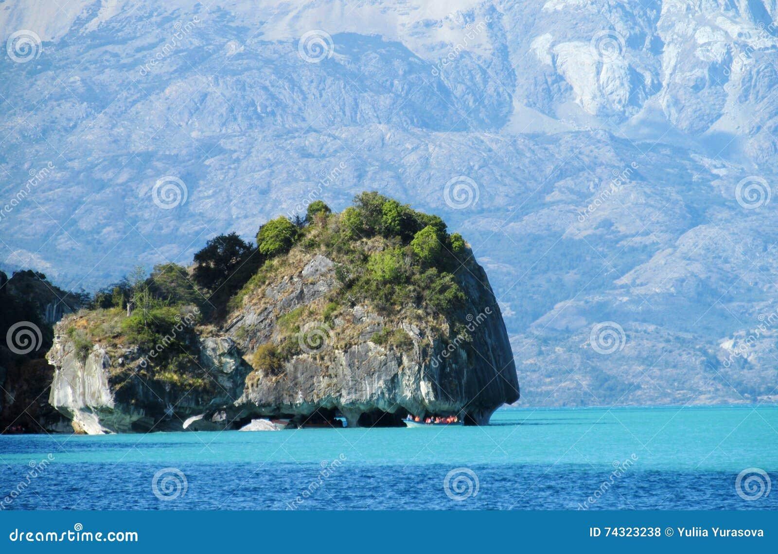 Marble Cave island, Capillas de Marmol island in Chile