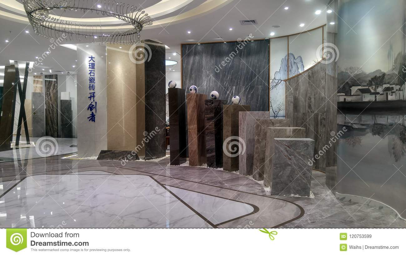 Marble Ceramic Tile Store Interior Landscape Editorial Stock Image ...