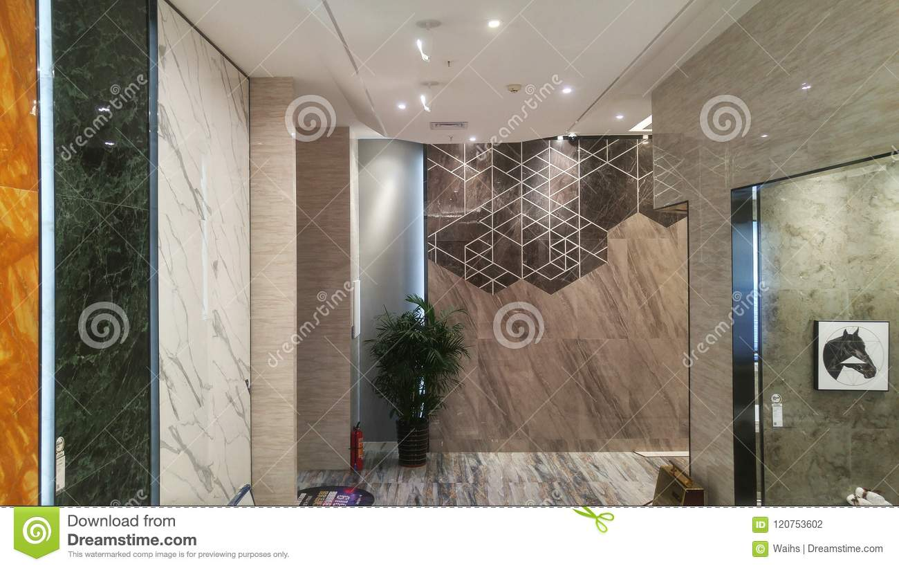 Marble Ceramic Tile Store Interior Landscape Editorial Photography