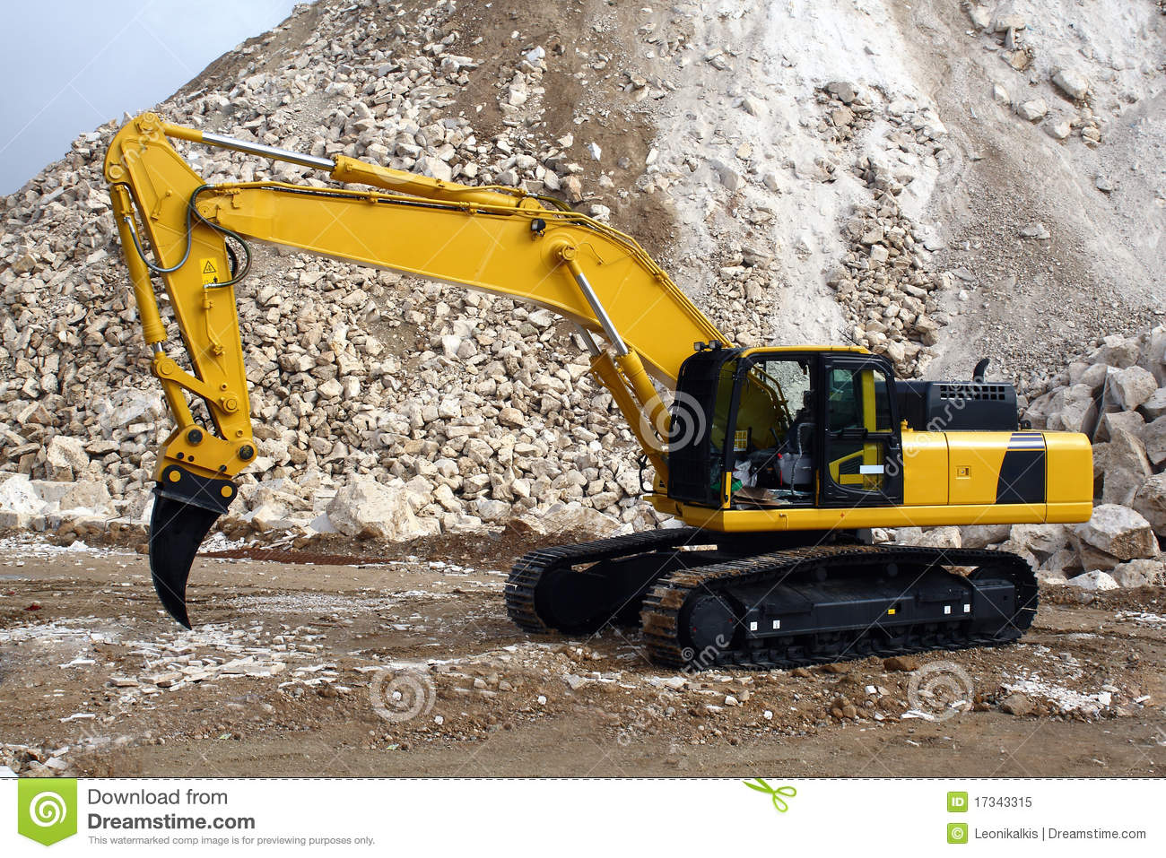 Marble Excavator Ripper Royalty Free Stock Photo Image