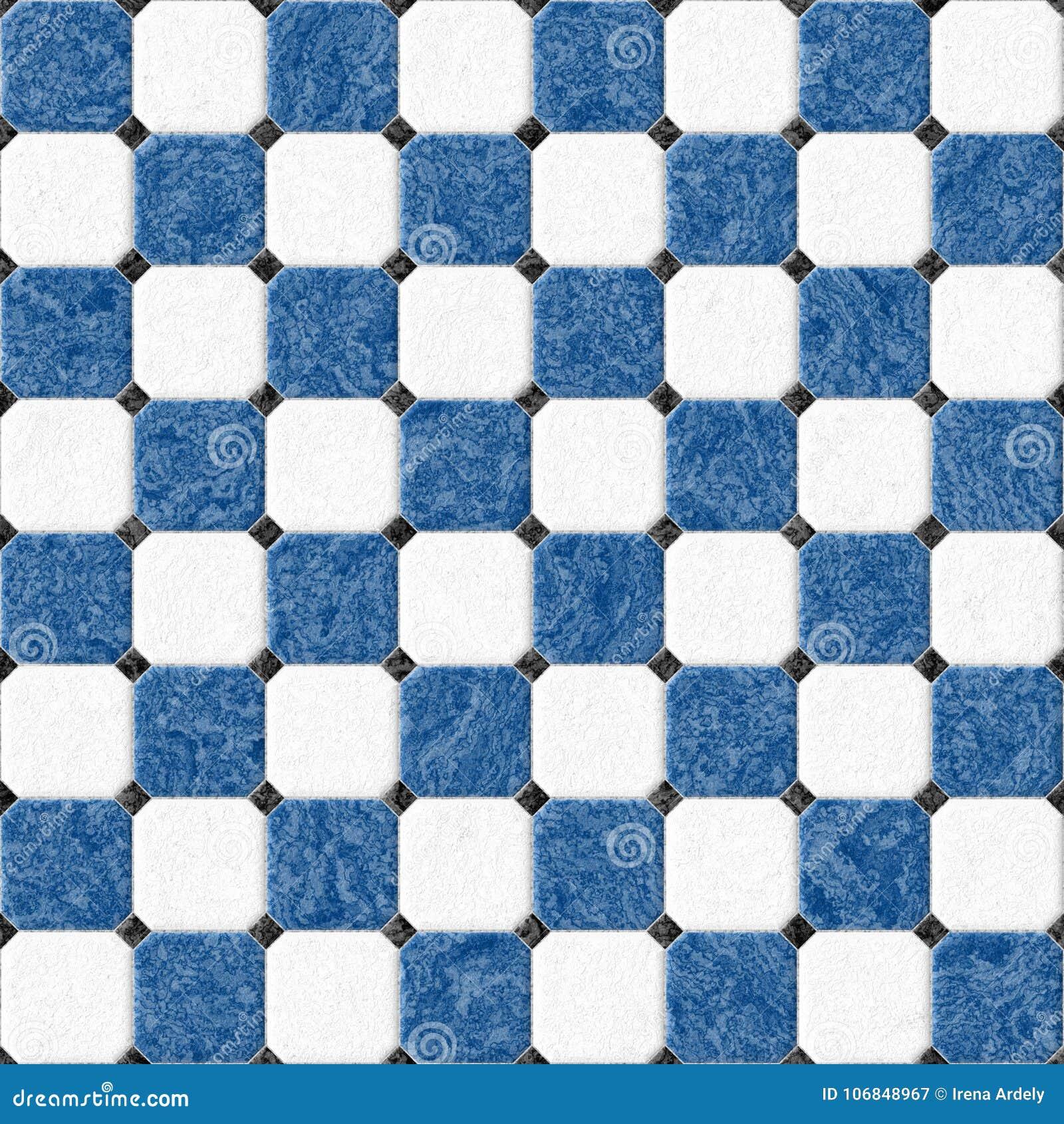 Marble Floor Tiles With Black Rhombs Seamless Pattern Texture ...