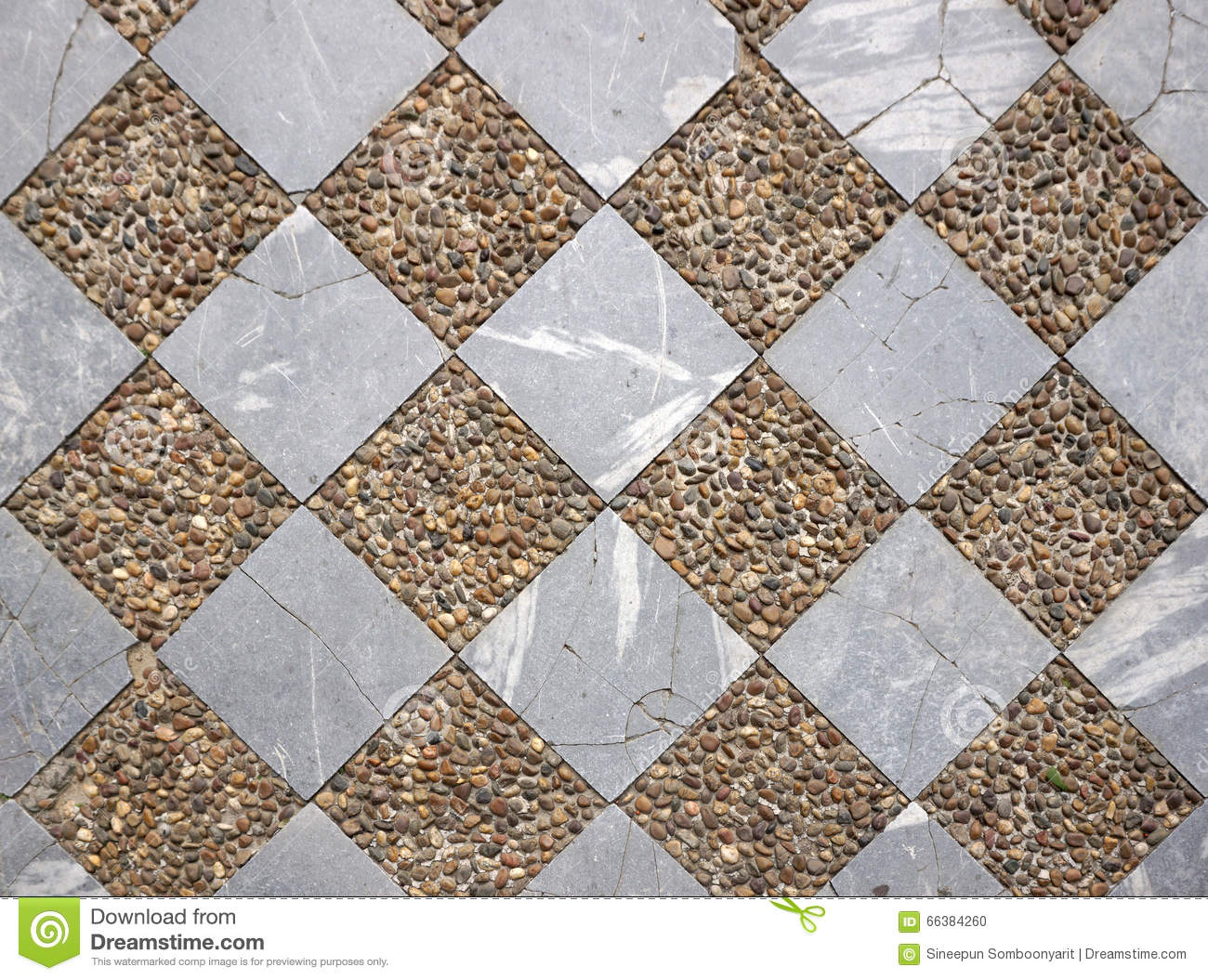 Marble And Gravel Checker Board Pattern Floor Stock Photo Image Of