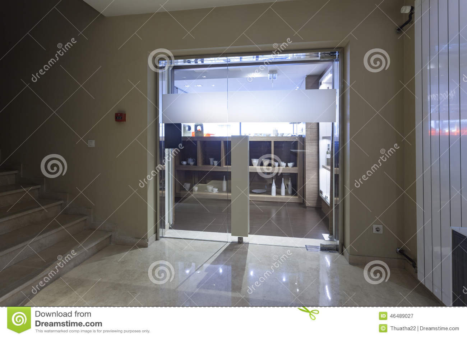 marble hotel lobby - shop entrance stock photo - image: 46489027