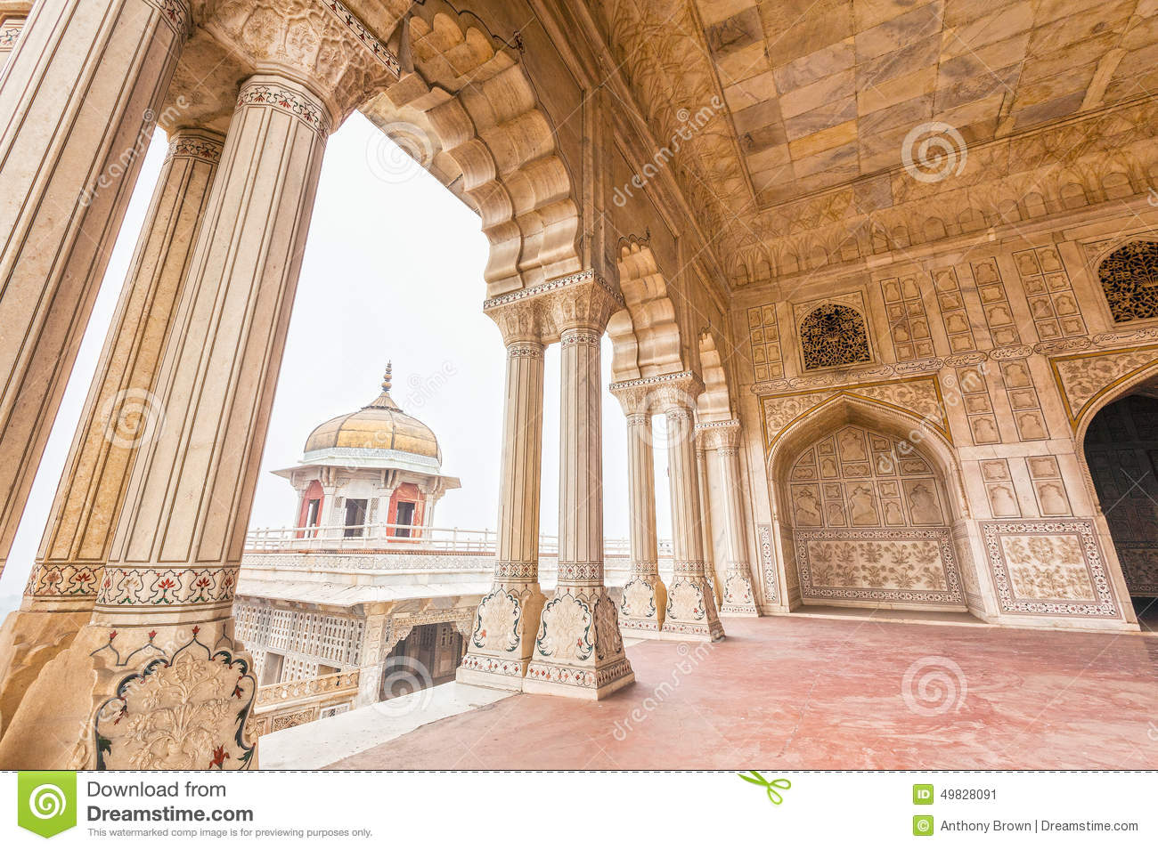 Marble palaces in agra fort india stock photo image for Diwan e khas agra fort