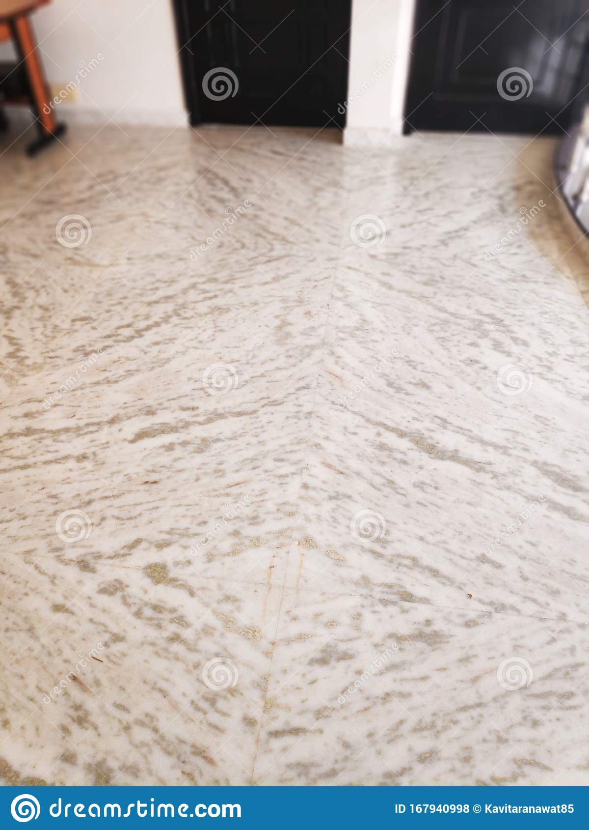 Empty Room With Marble Floor Stock Photo Image Of Indoor Contemporary 167940998