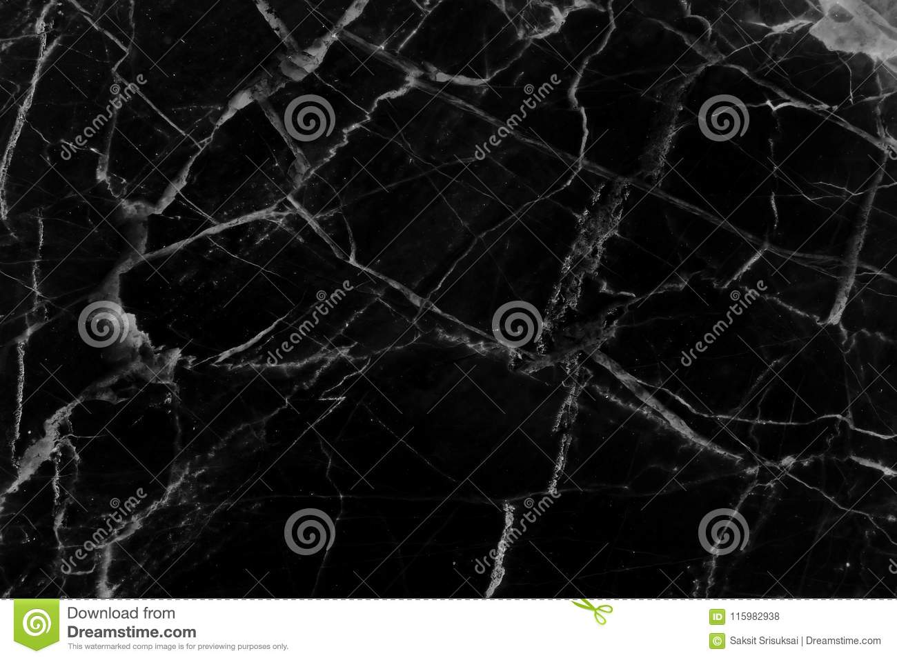 Black marble pattern texture natural background.