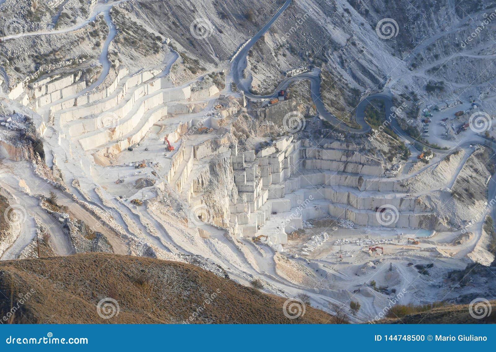 The marble quarries at Carrara