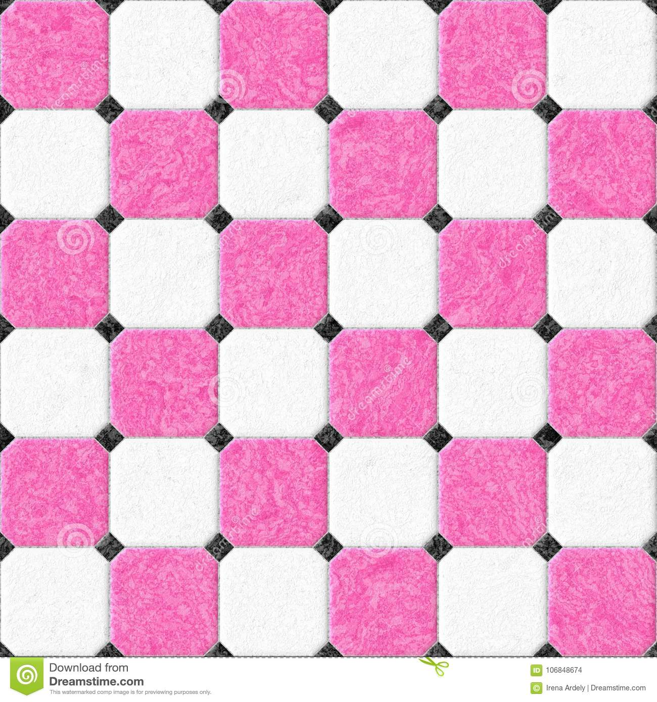 Marble floor tiles with black rhombs and gray gap seamless pattern marble floor tiles with black rhombs and gray gap seamless pattern texture background hot pink and white color dailygadgetfo Image collections