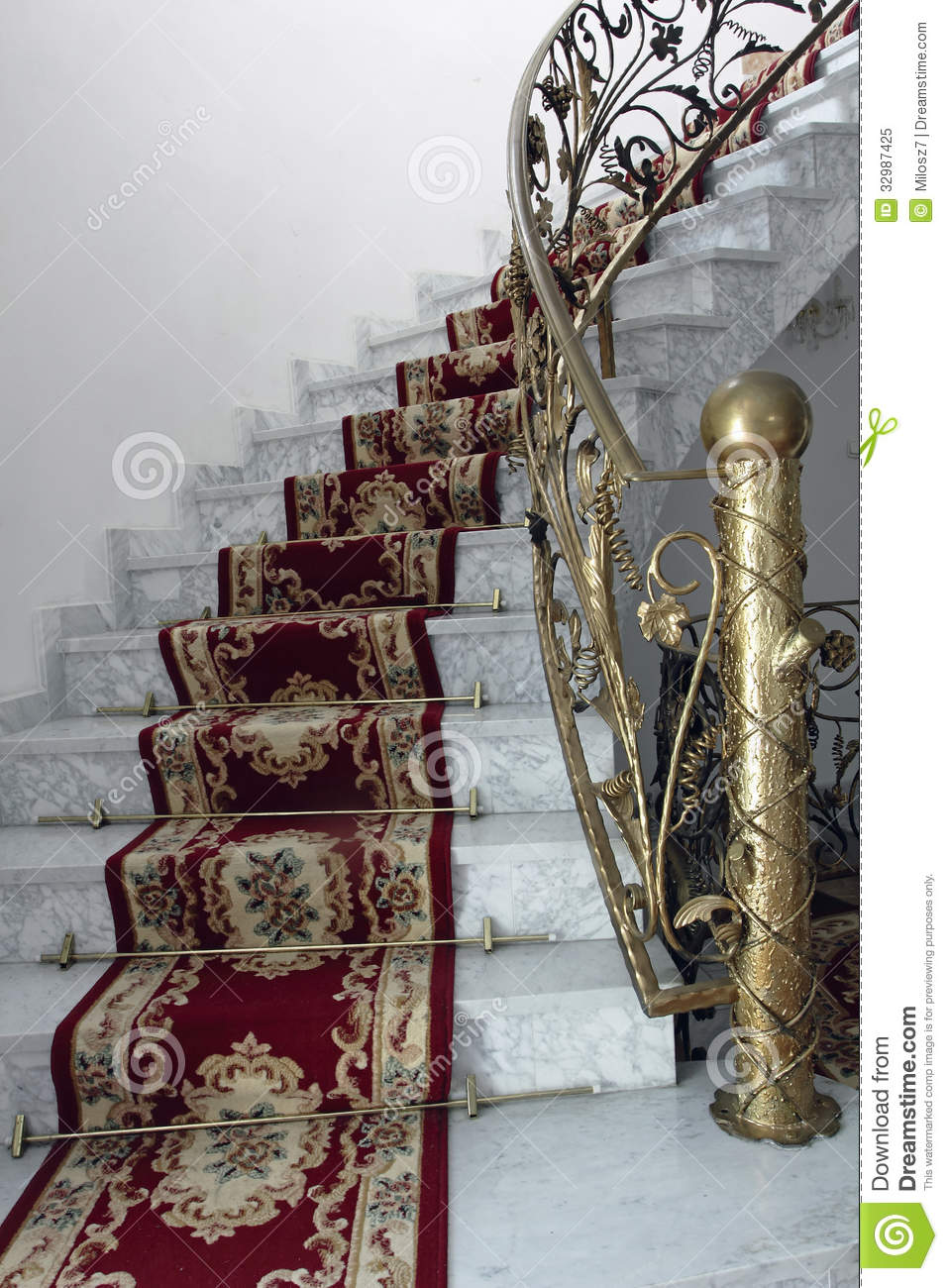 Marble Stairs Stock Image Image Of Design Construction