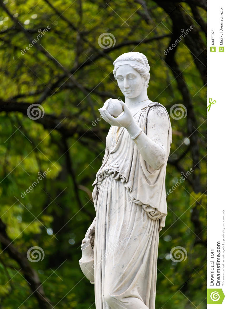 marble statue of the greek goddess hera or the stock photo image