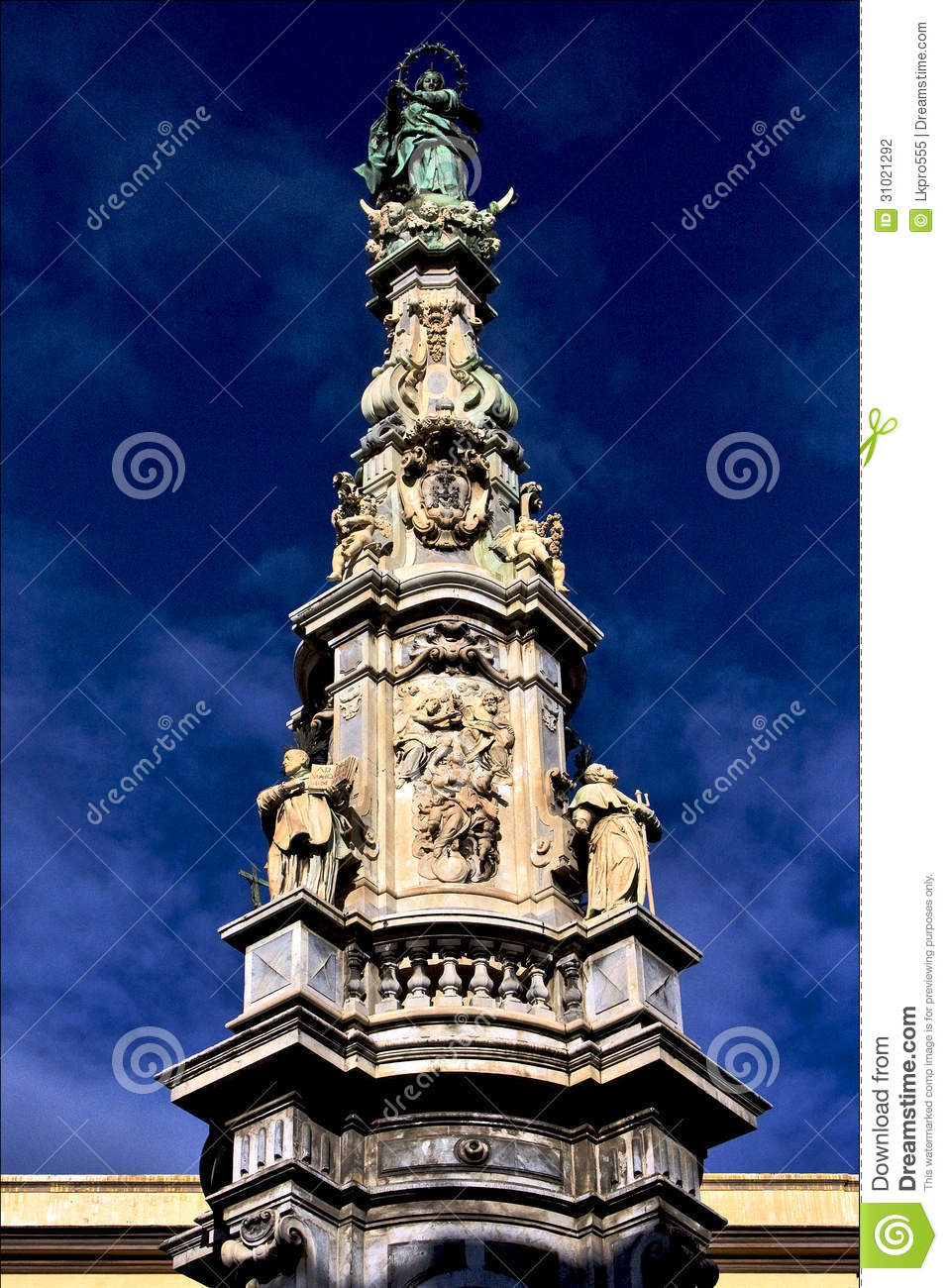Marble Statue Of Obelisk Stock Photo Image Of Circular