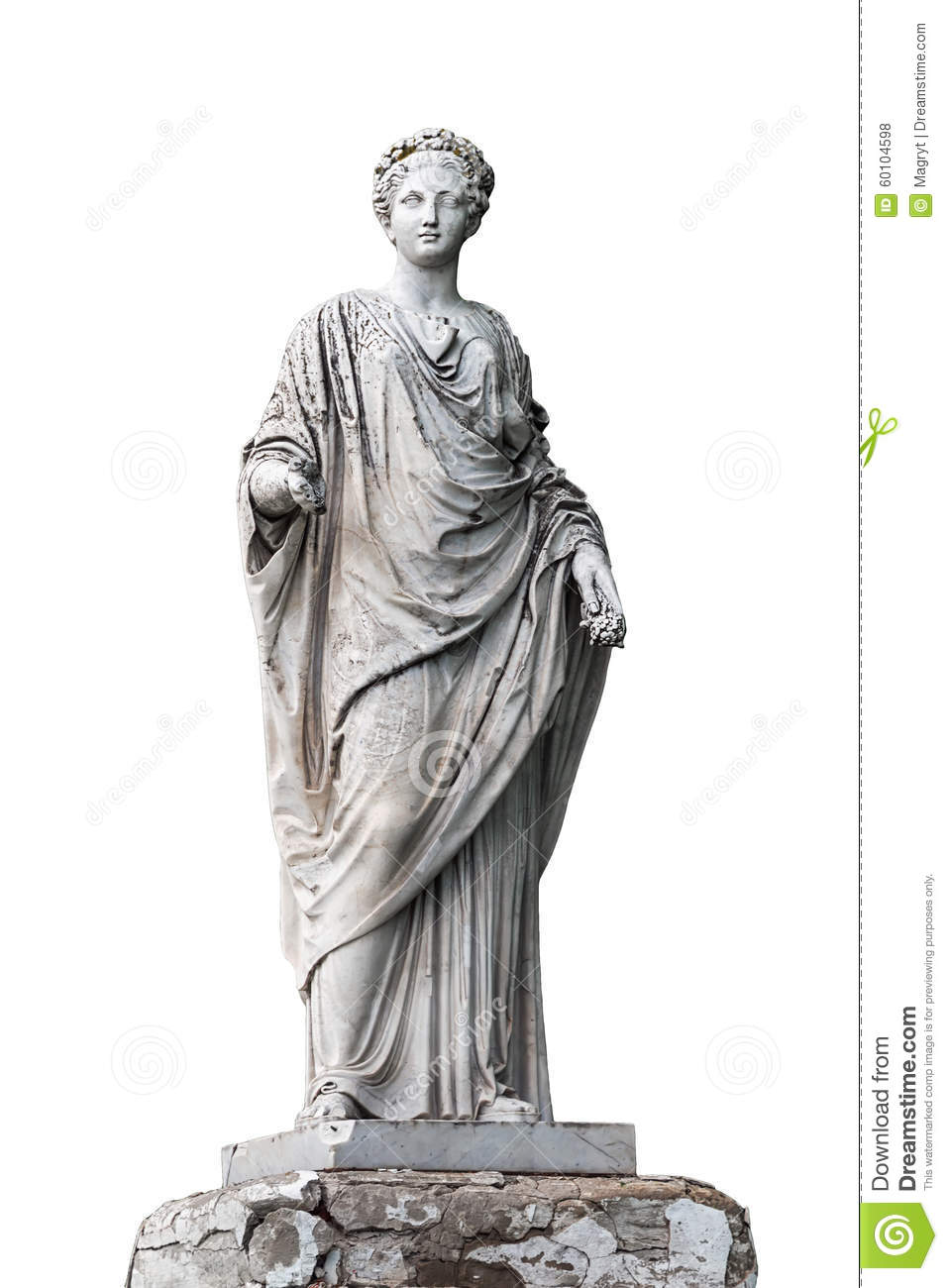 Marble Statue Of Roman Ceres Or Greek Demeter Stock Photo