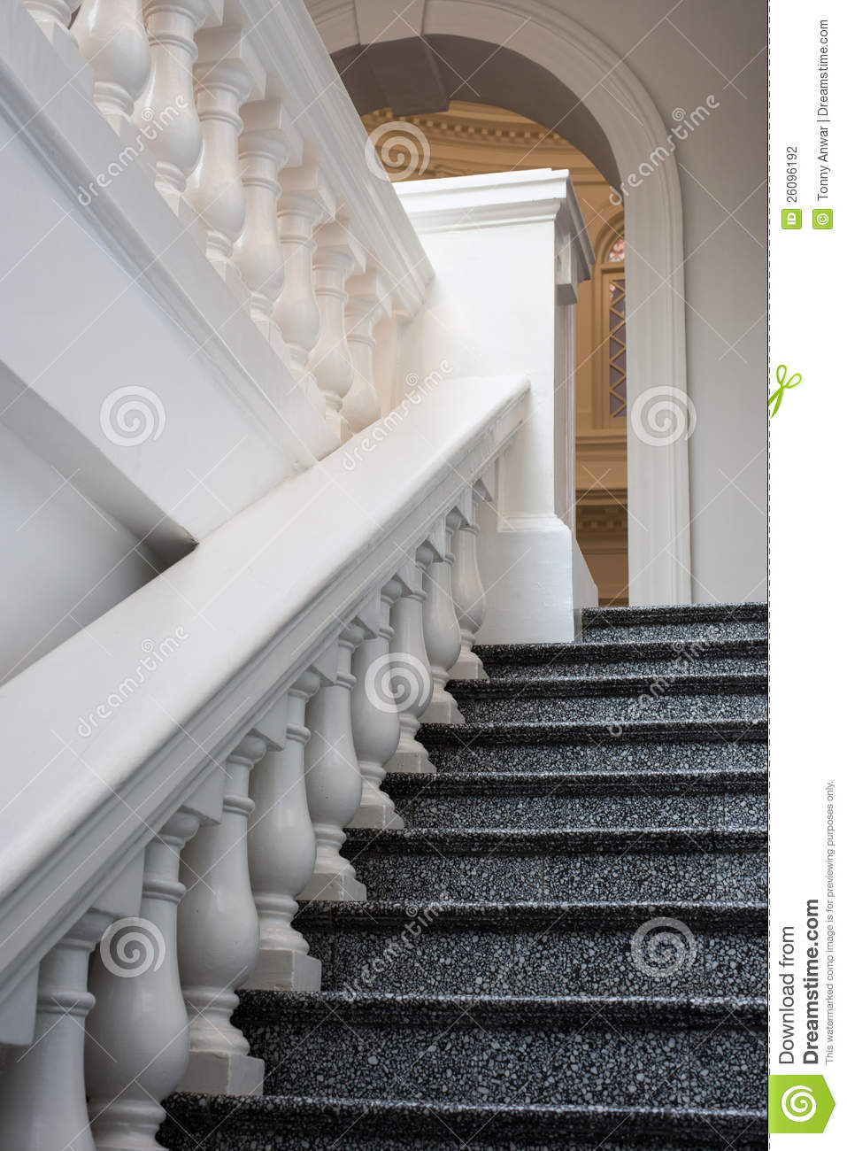 Marble Steps And Railing Stock Photo Image Of Safety