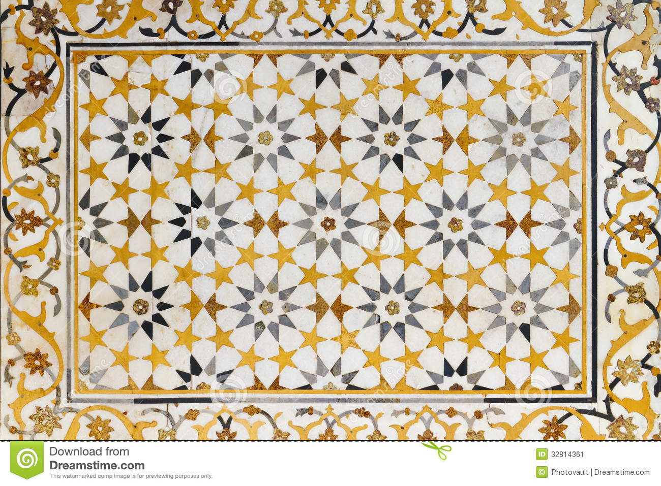 Marble Texture At Baby Taj Stock Image - Image: 32814361