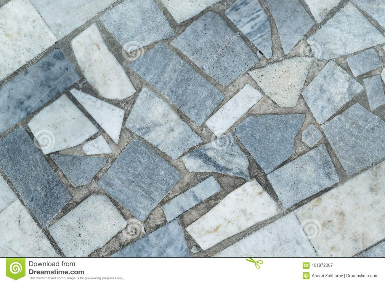 Marble Tiles Of Different Shapes Laid Out On A Flat Surface. Stock ...