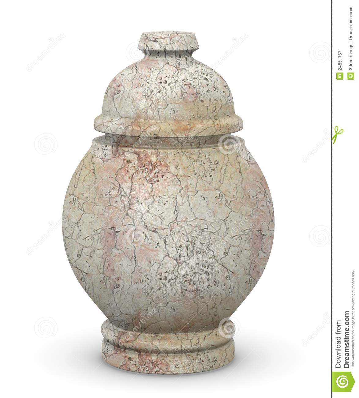 Marble urn for ashes