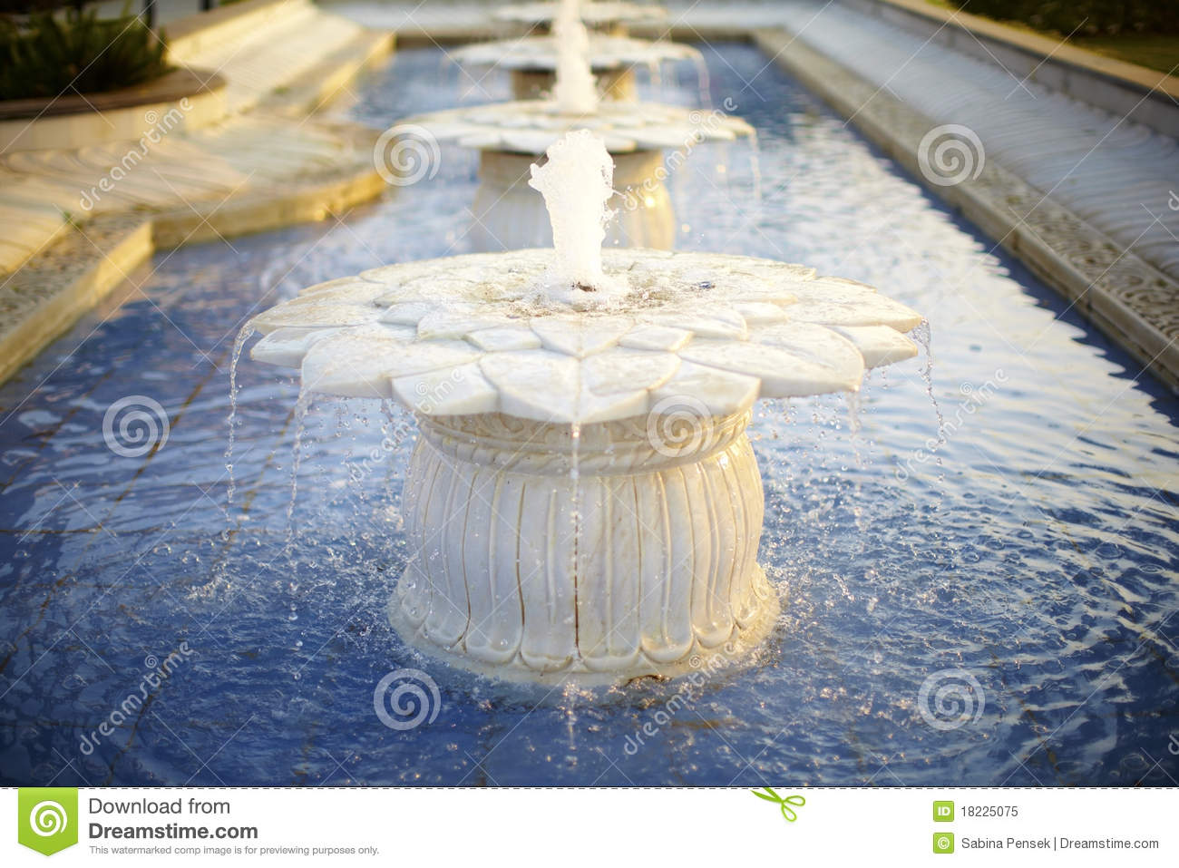 Lotus water fountain stock image image 1919081 marble water fountain lotus shaped royalty free stock photo dhlflorist Images