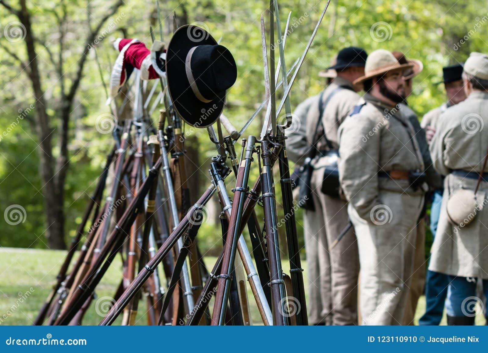 Rifles and bayonets