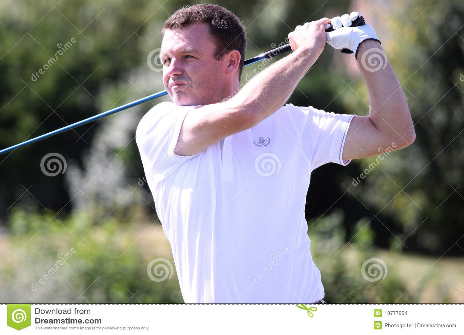 Marc Jathiere bij het golf Prevens Trpohee 2009