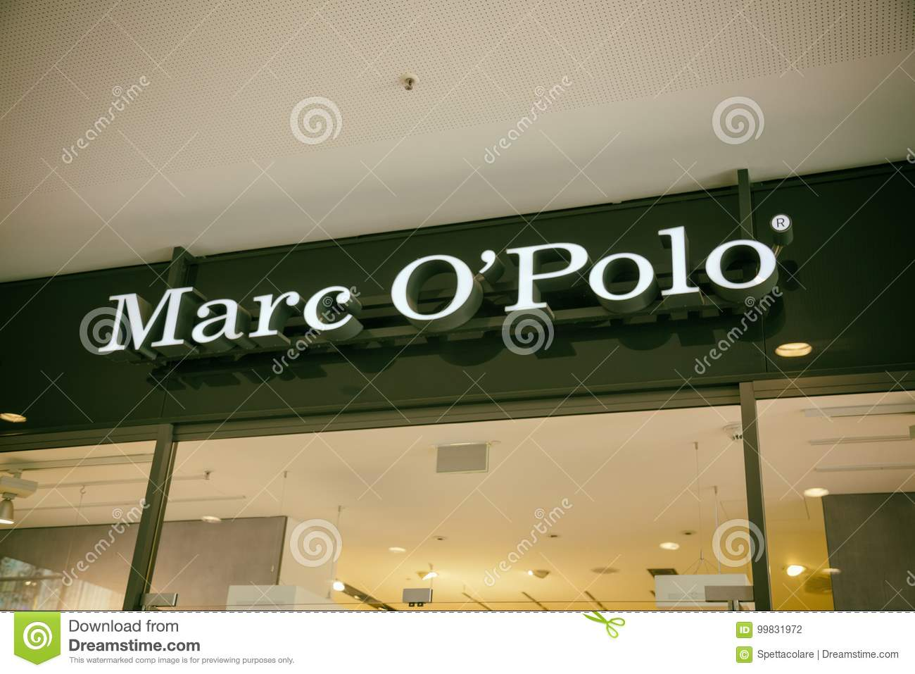 6de435ae1 Marc O Polo store sign editorial photography. Image of accessories ...