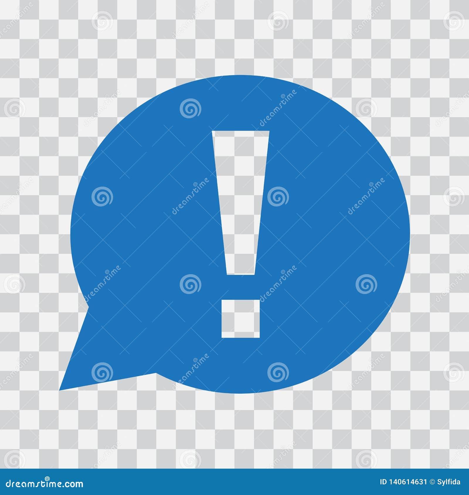 Marca de exclamação na bolha do discurso Sinal do aviso ou da atenção Ilustração do vetor