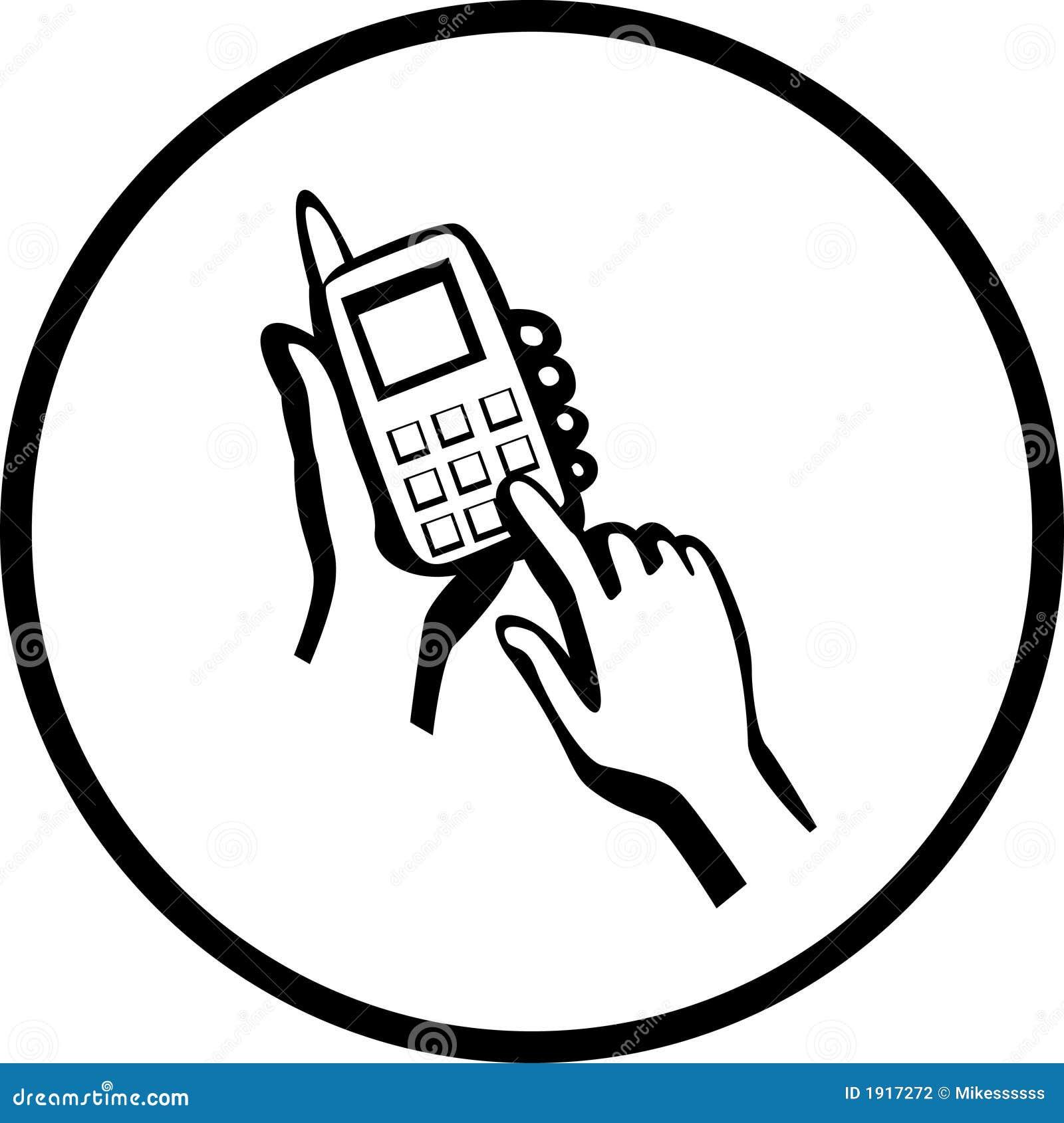 número de teléfono blanco pequeño