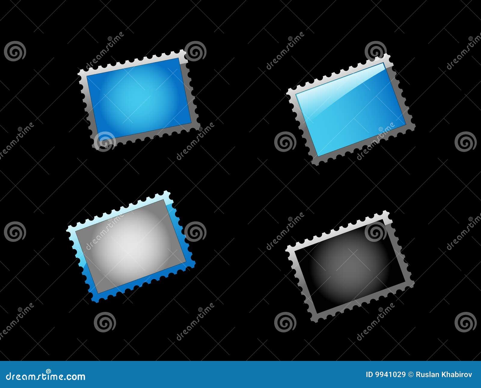 Marca determinada del azul