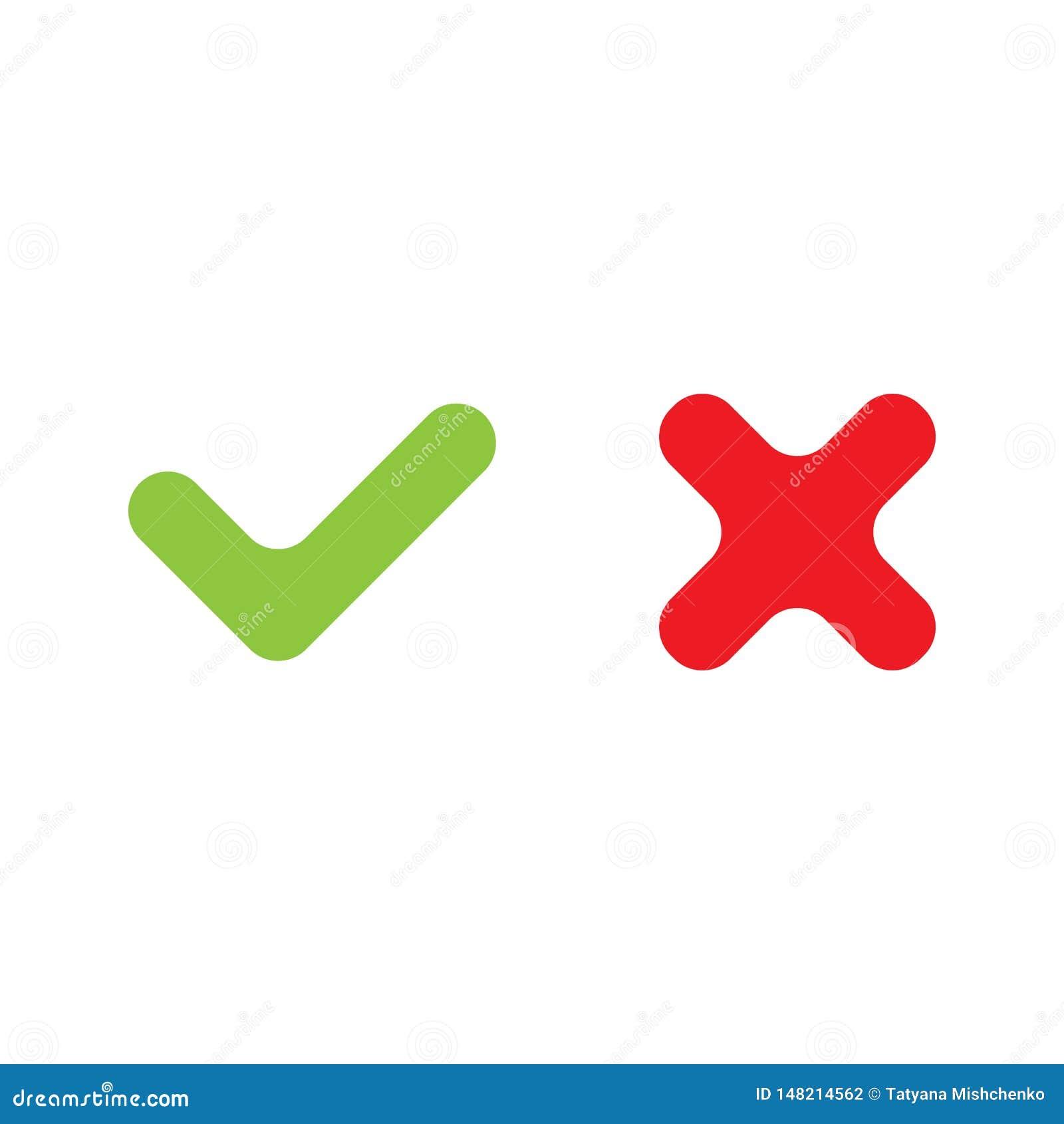 Marca direita e errada do vetor de verifica??o