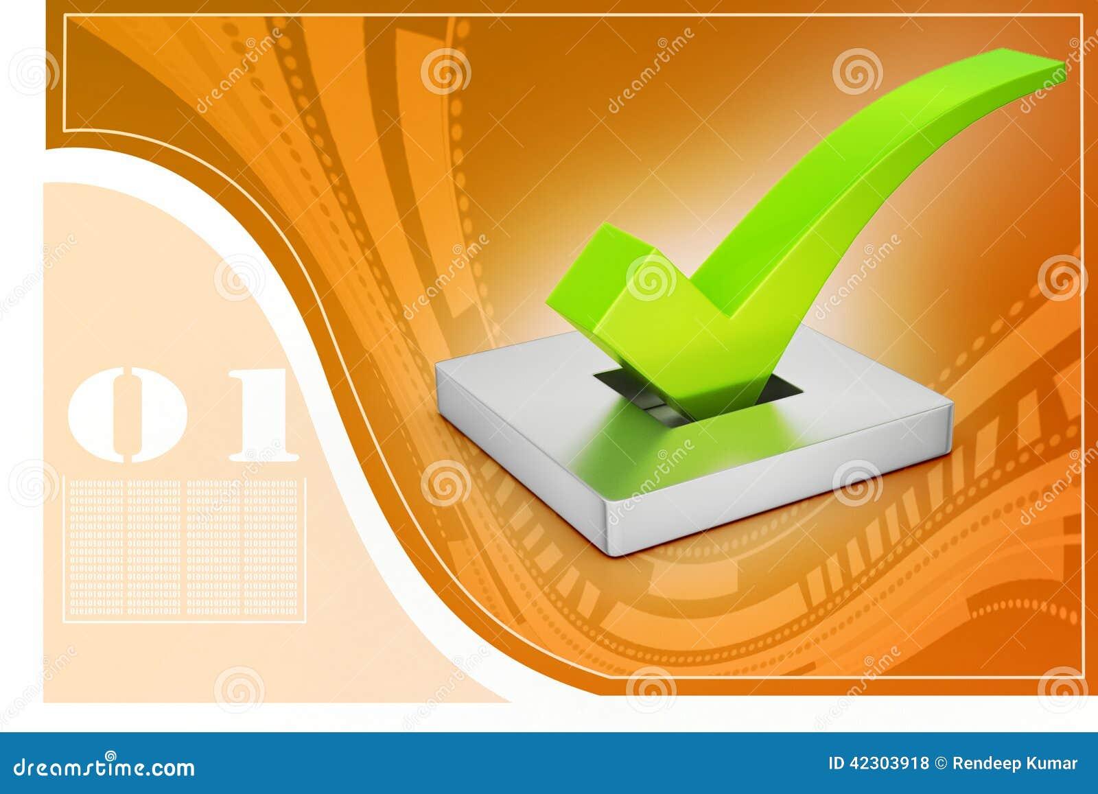 Marca direita no fundo atrativo, conceito do voto