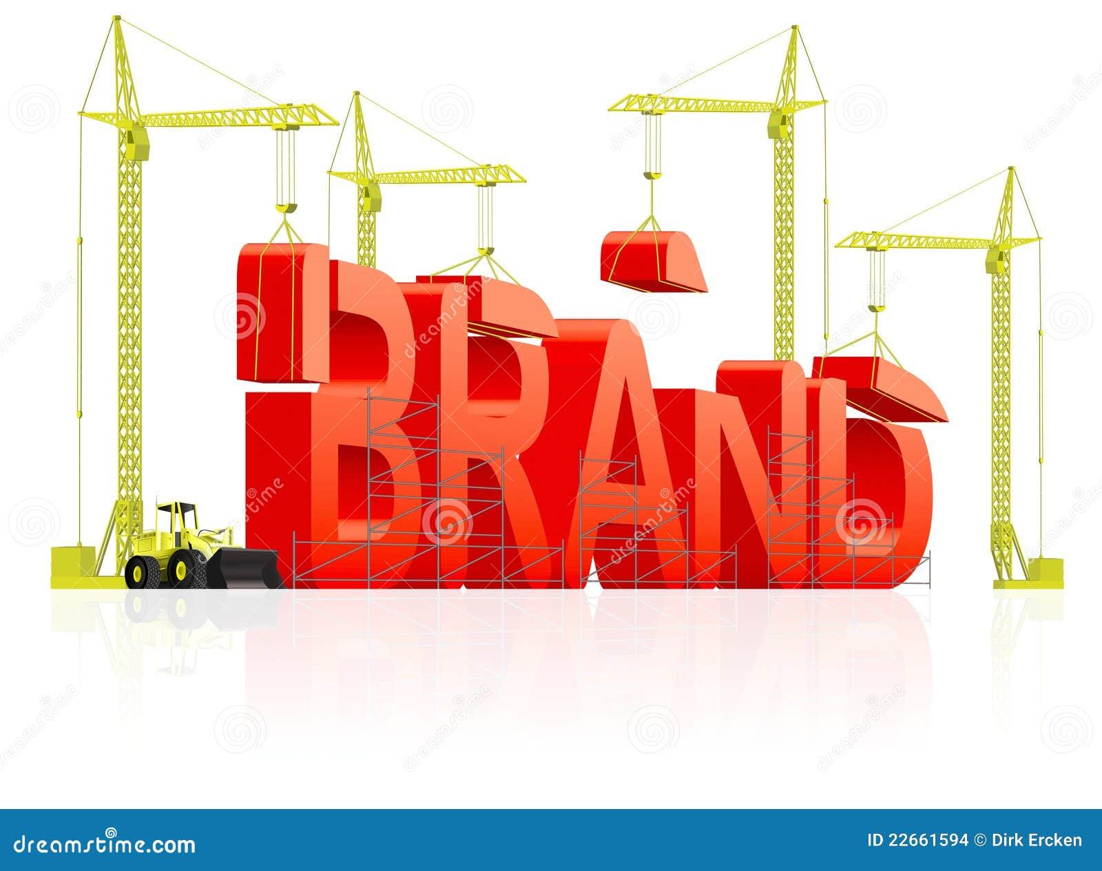 3f9732f17 Desarrollo de marca de fábrica o creación de la palabra roja fuerte del  edificio de la identidad de marcado en caliente de la marca registrada de  la ...