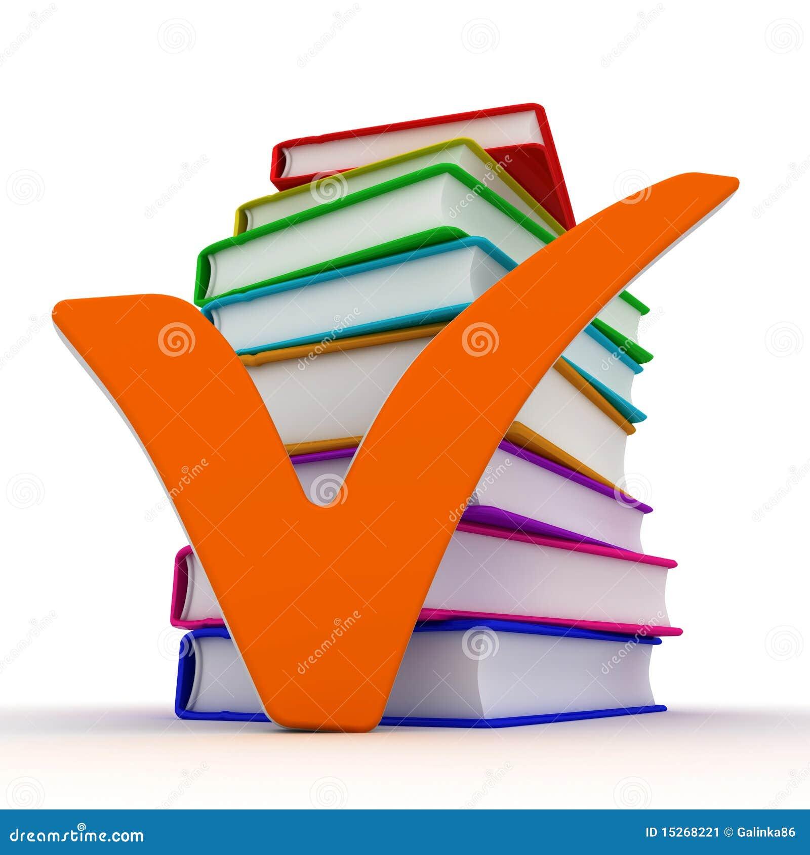 Marca Y Libros De Verificación Stock de ilustración - Ilustración de ...