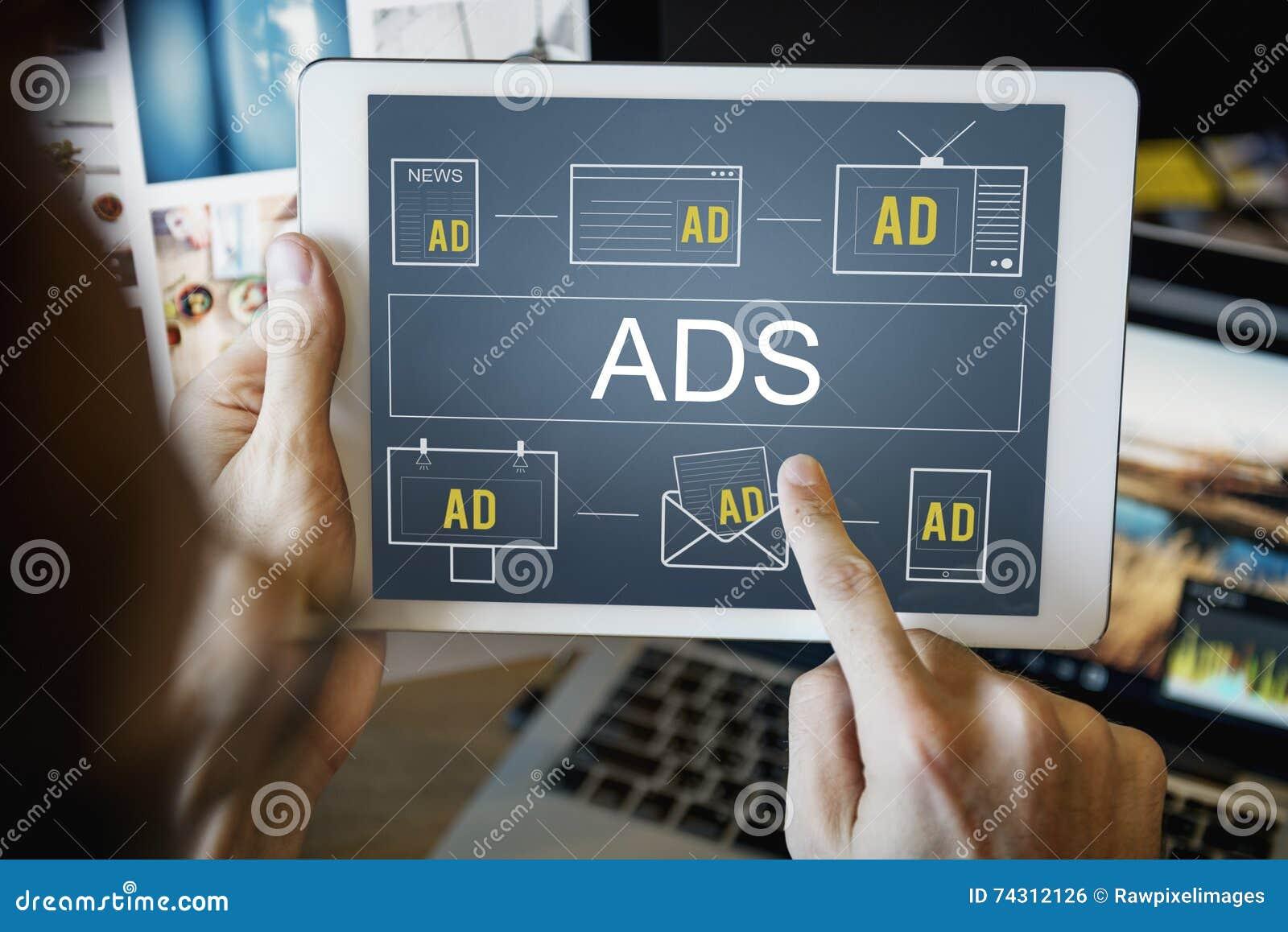 Marcado en caliente de la publicidad del márketing comercial del ADS del anuncio concentrado