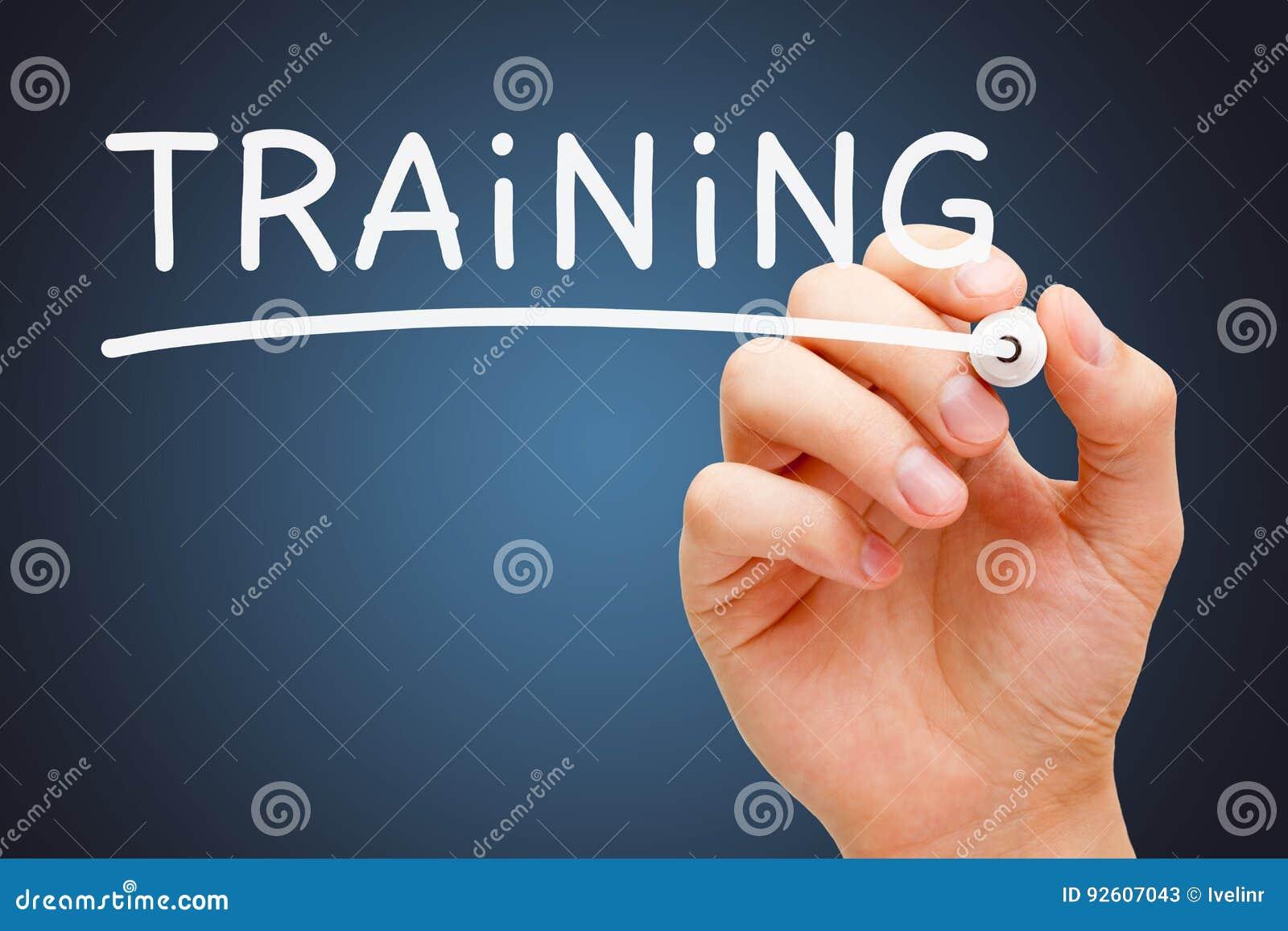 Marcador blanco de entrenamiento