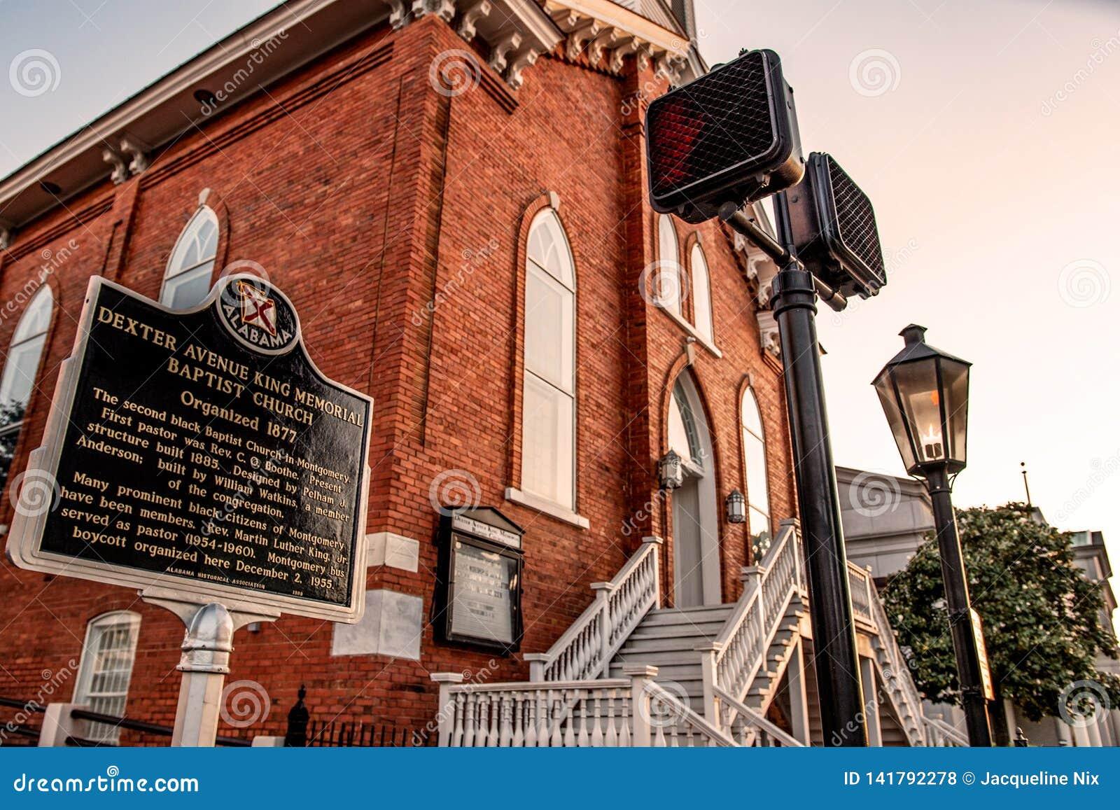 Marcador de Dexter Avenue Baptist Church Historic