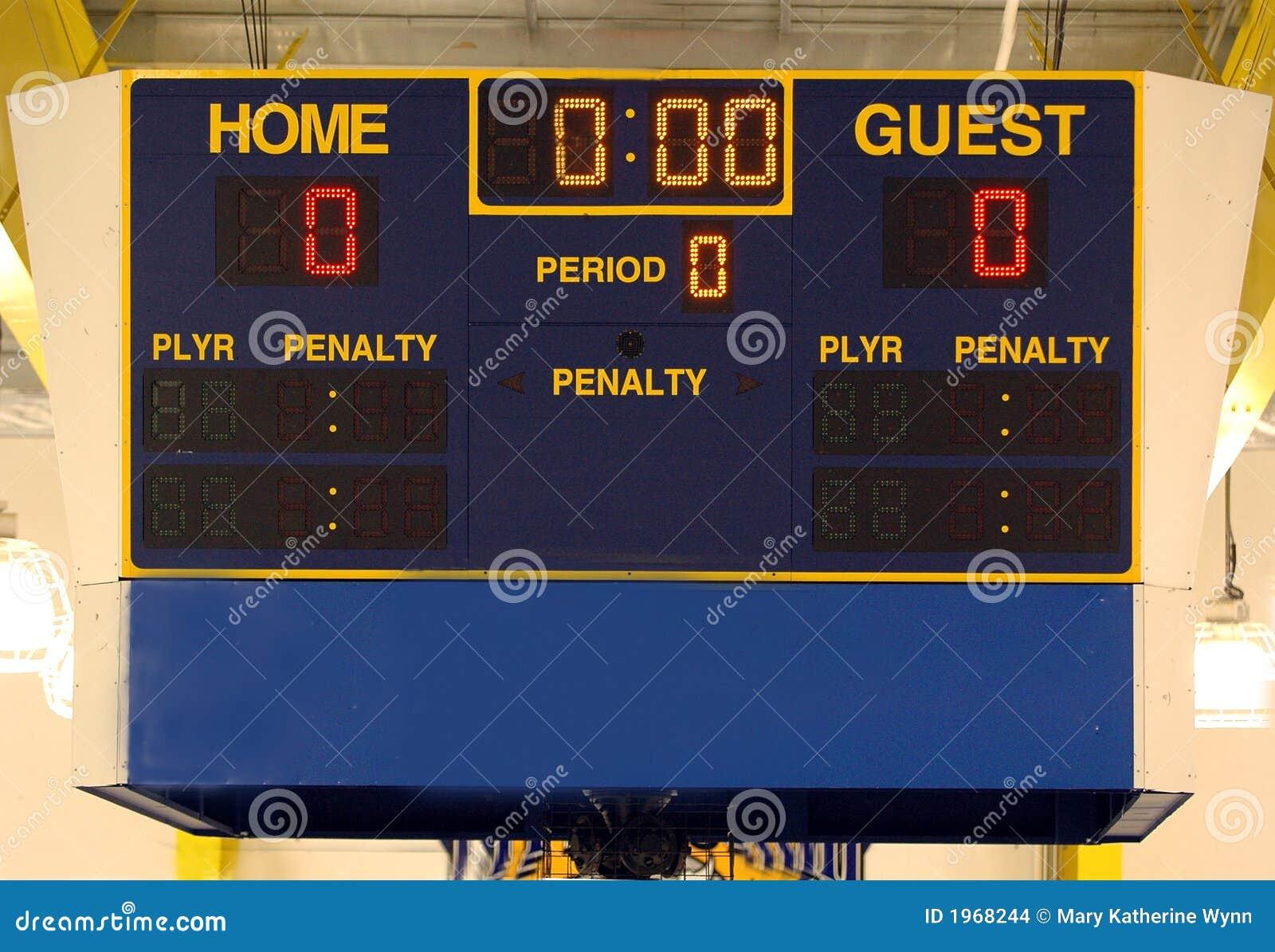 Marcador del hockey sobre hielo