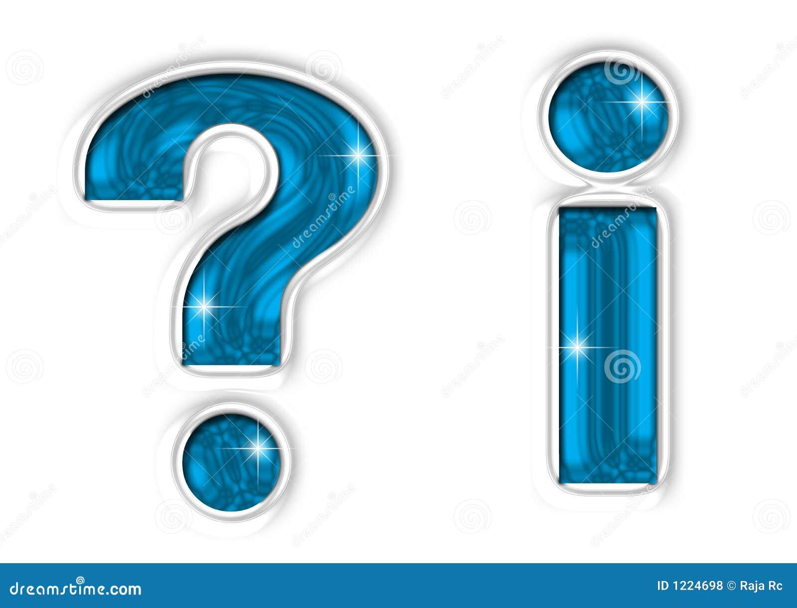 Marcas da pergunta & da informação