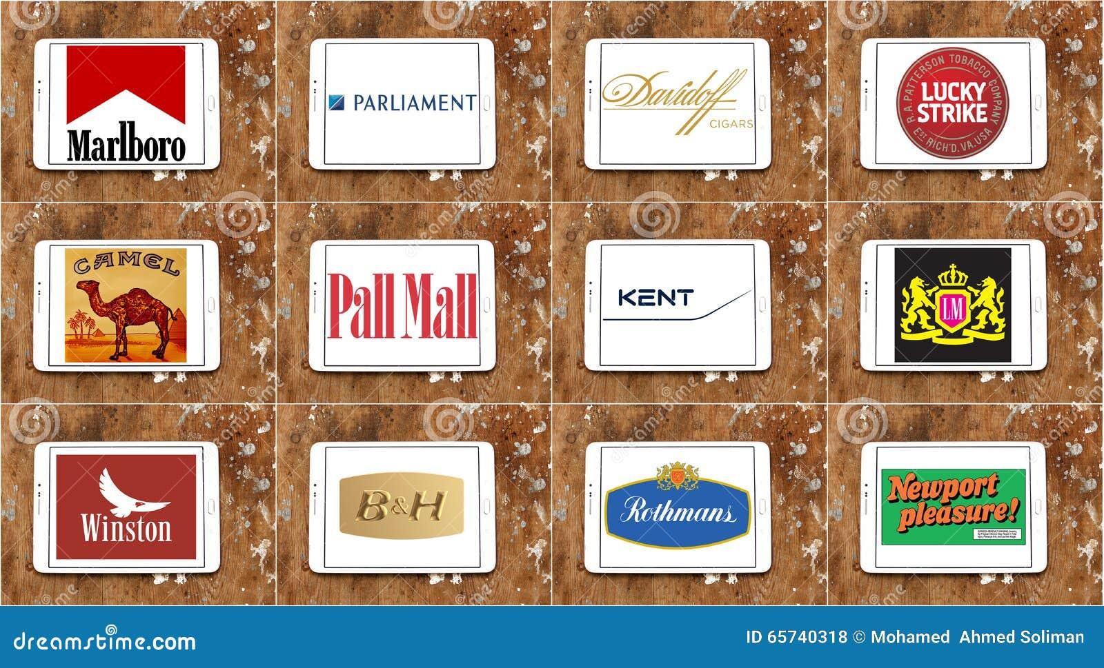 Marcas Y Logotipos Famosos Superiores Del Cigarrillo Foto De  # Muebles Para Cigarros