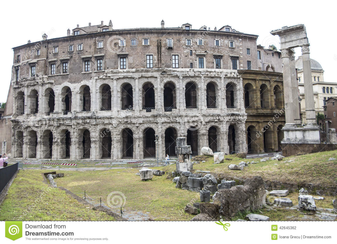 Marcello Theater, Old Rome Editorial Photography - Image: 42645362