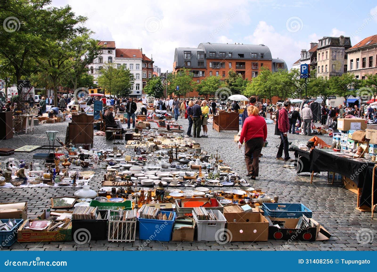 March aux puces de bruxelles photo ditorial image 31408256 - Marche aux puces dijon ...