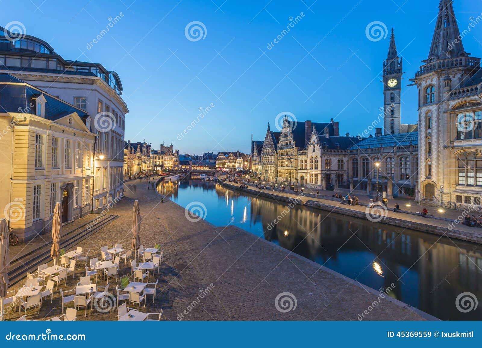 Marché central de Gand, Belgique