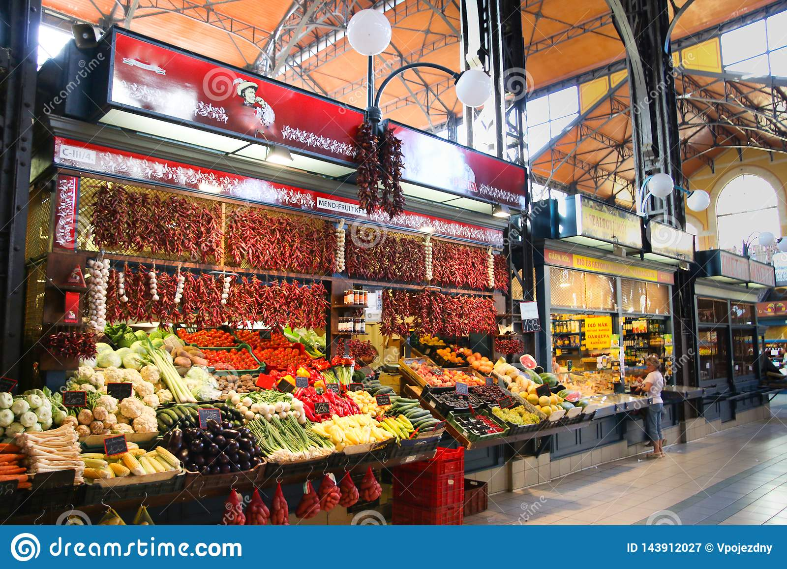 Marché central Hall Budapest Hungary