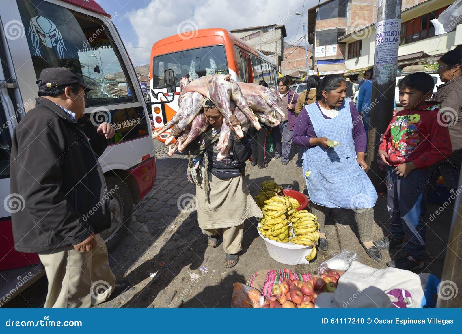 Marché, Cuzco, Pérou