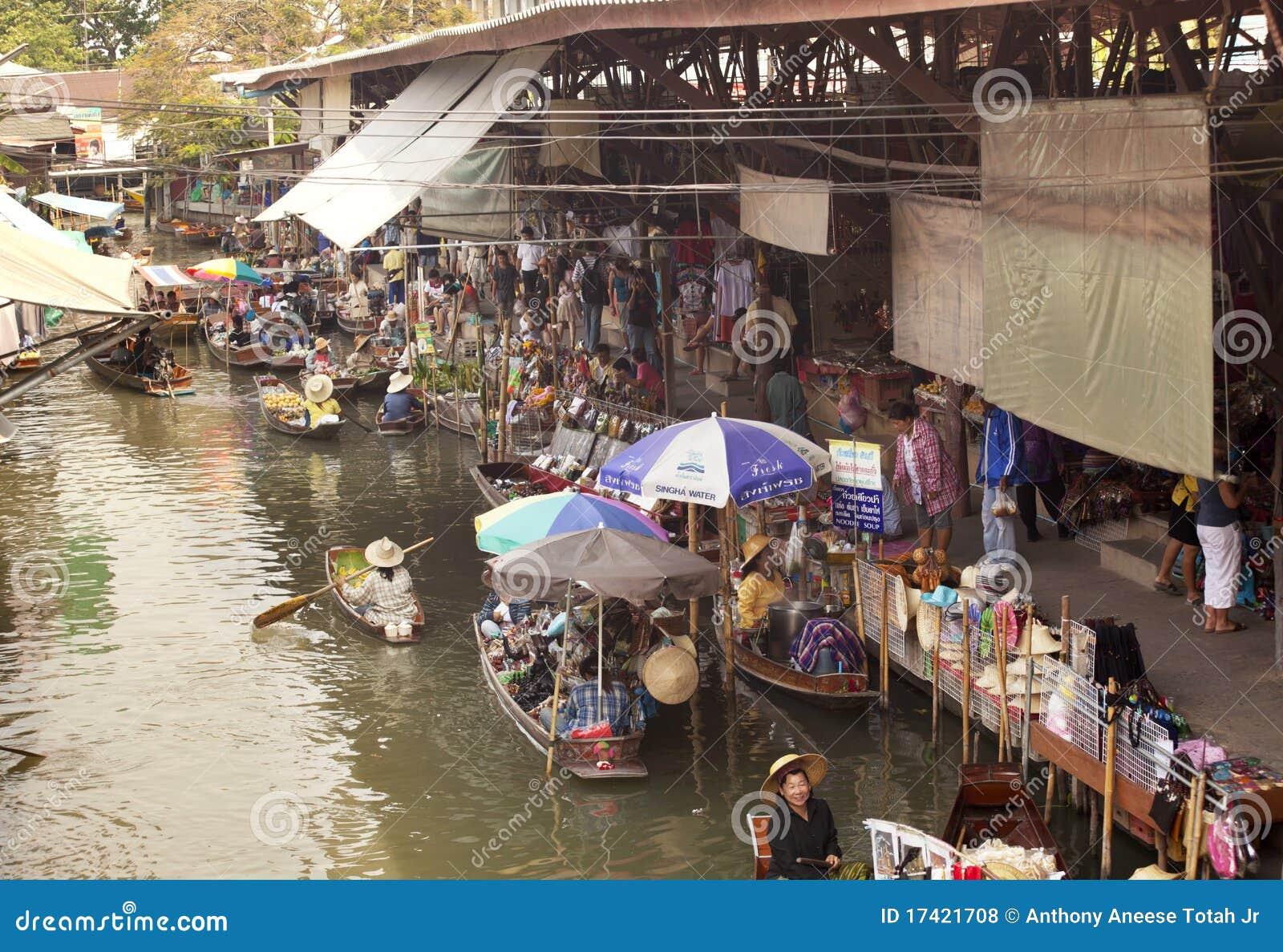 Marché de flottement de Bangkok