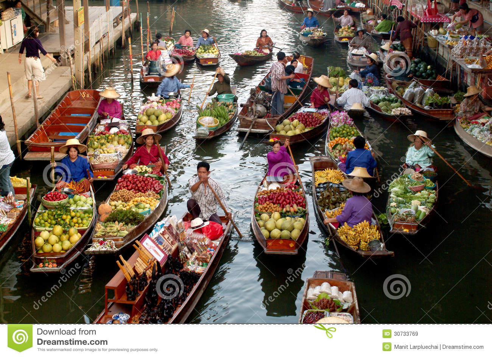 Marché de flottement en Thaïlande.