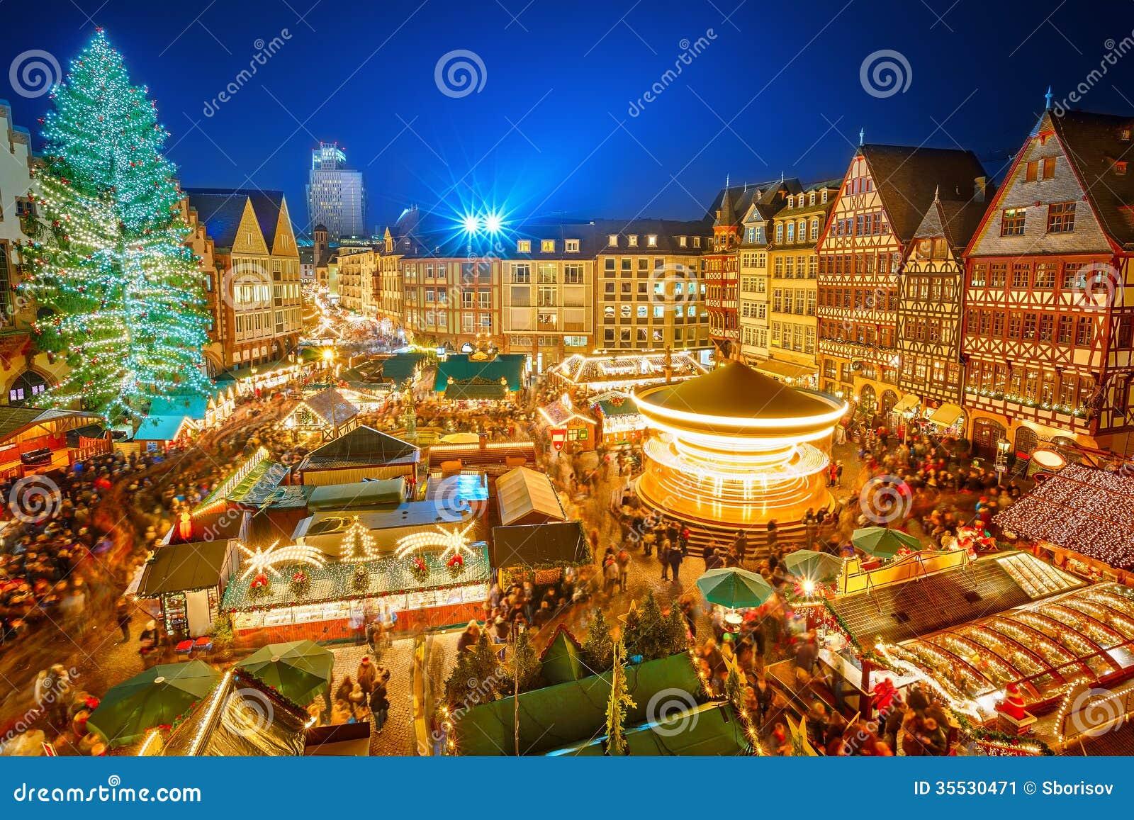 marché de noel francfort Marché de Noël à Francfort image stock. Image du christmastime  marché de noel francfort