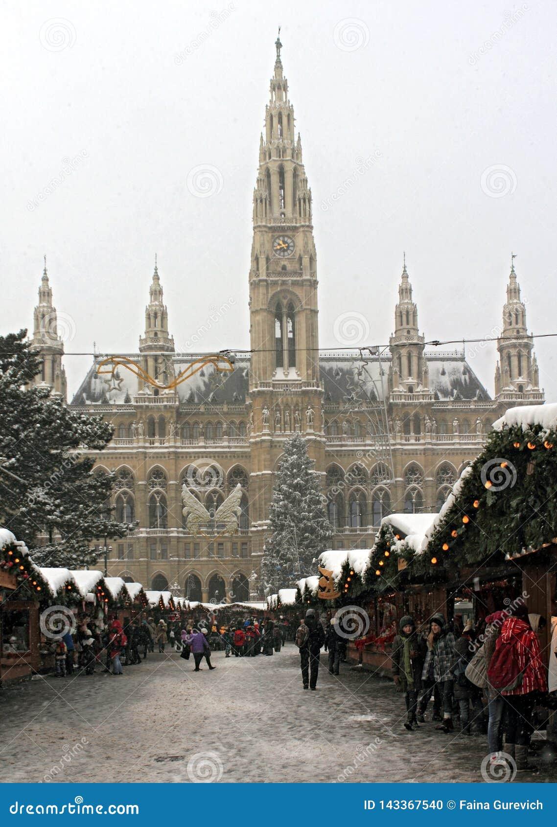 Marché de Noël à l Hôtel de Ville de Rathaus Vienne