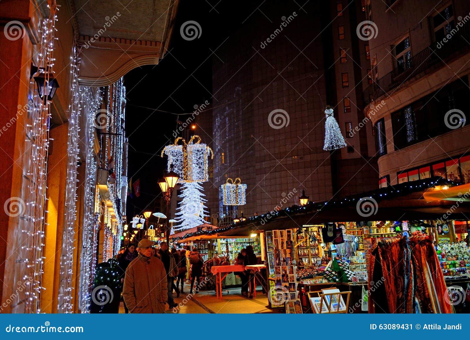 Download Marché De Noël, Budapest, Hongrie Photo éditorial - Image du extérieur, joseph: 63089431