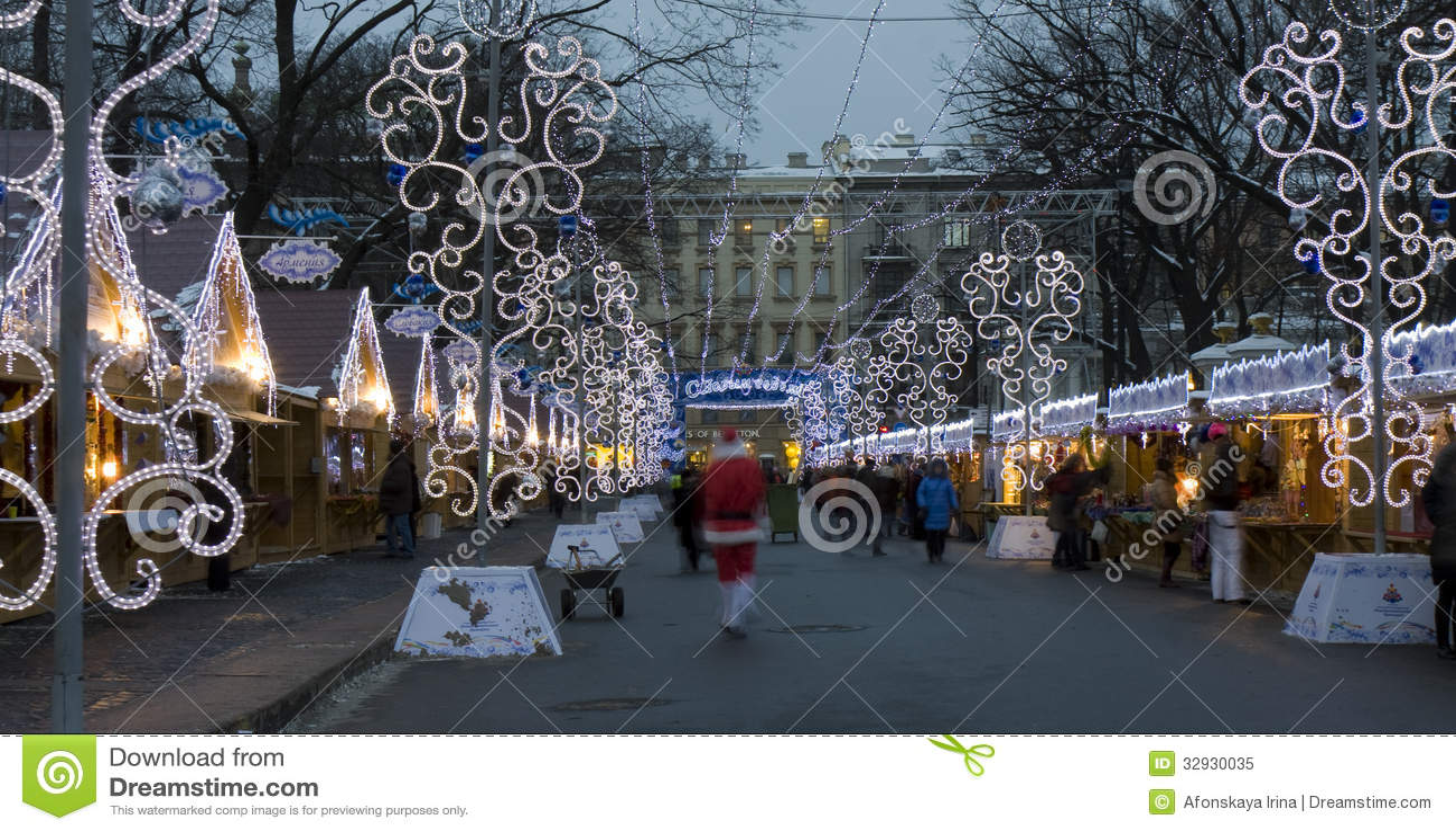Marché De Noël, St Petersburg Image éditorial - Image: 32930035