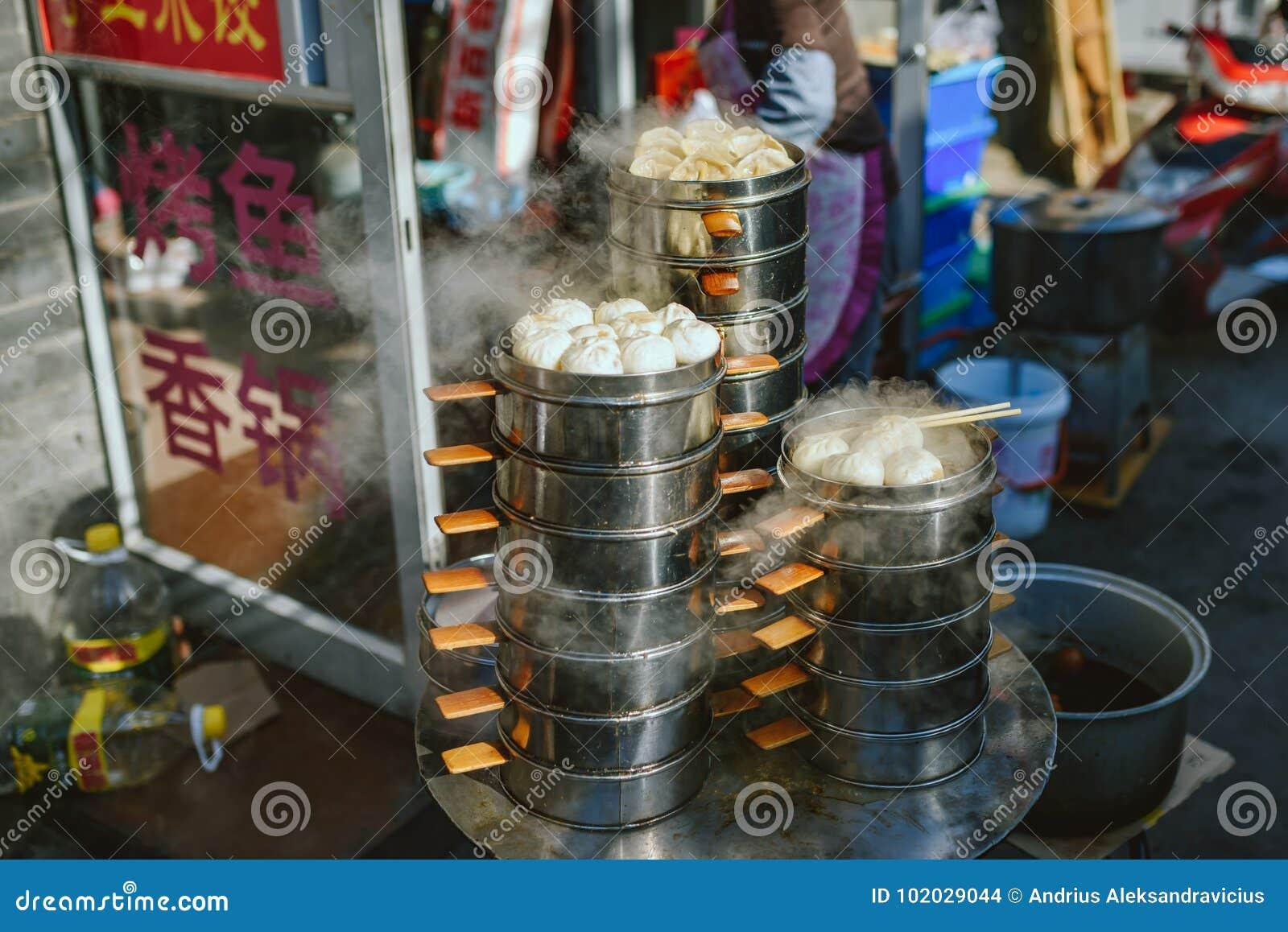 Marché de nourriture de rue sur Pékin, Chine
